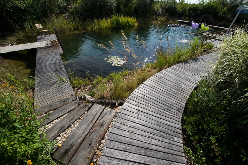 A natural pool in harmony with the French landscape