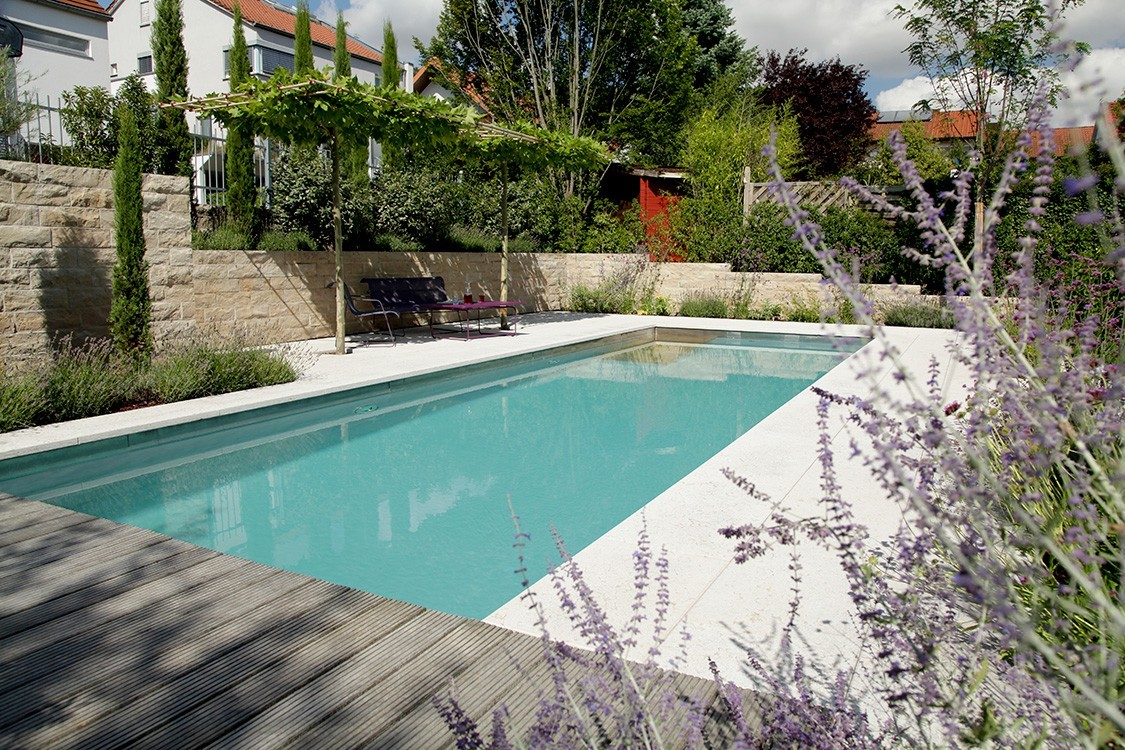 bio pool with Mediterranean flair