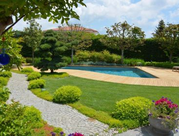 bio pool in turkey in exquisite garden