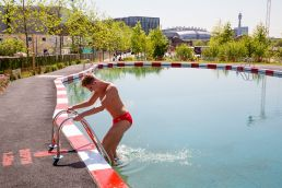 Swimming in the King's Cross Natural Pool