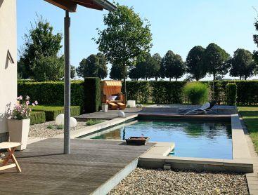 Biotop case studies i natural pools and living pools for Koi pool and sauna