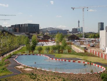 public natural pool in London by ooze architects
