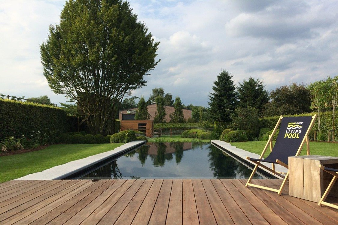 Bio Pool in Belgium with atmospheric ambiance